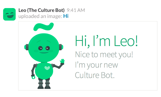 Leo le chatbot d'Officevibe